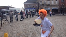 Macclesfield's annual pancake race happened today