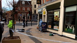 Man stabbed in the head outside McDonald's on busy high street