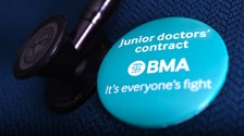 Junior doctors on strike in Cumbria