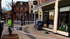 Man stabbed in the head outside McDonald's