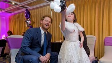 Nellie-Mai meets Prince Harry.