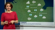 East Midlands weather: Cloud and rain, turning drier