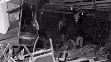 Inside one of the bombed pubs