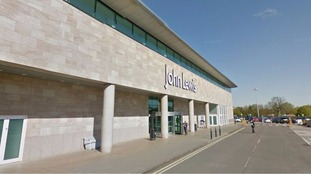 The woman fell while in the John Lewis store in Cheadle
