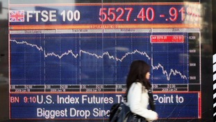 FTSE 100 index hits three year low amid global slowdown fears