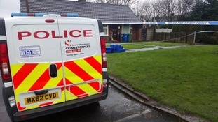 Crime scene, Woodward Close, Bury