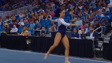 Gymnast drops surprise hip hop moves into floor routine