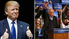 Trump and Sanders cruise to victory in New Hampshire