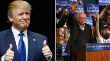 Trump and Sanders ease to victory in New Hampshire
