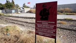 Explosives and suicide belts seized as group stopped at Turkey-Syria border
