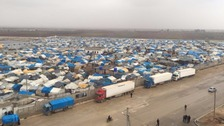 A Syrian refugee camp near the Turkish border