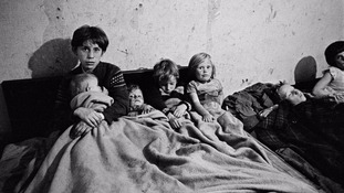Pictures show the shocking living conditions for people in slums of Manchester, Salford and Liverpool in the 1960s
