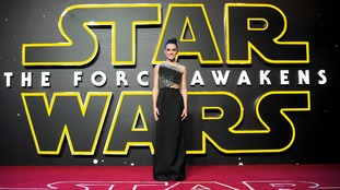 Daisy Ridley attending the Star Wars: The Force Awakens European Premiere