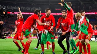 Wales team celebrating