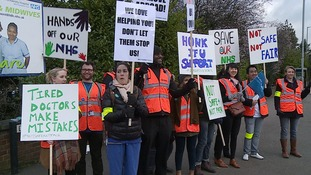 How much of an impact has the junior doctors strike had in the East?