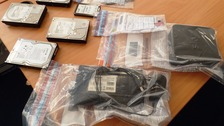 Seized computer equipment