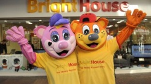 Man was dressed at the 'Brighthouse bear' pictured here on the right.