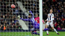 Shaquile Coulthirst scores against West Brom in the original tie.