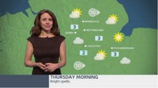 East Midlands weather: Bright spells