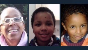 The bodies of Sian Blake and her children Zachary and Amon were found in their garden.