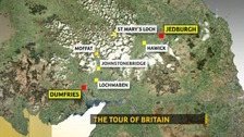 Map of Tour of Britain