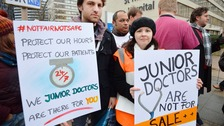 Junior doctors protest.