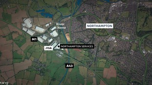 The man was hit opposite the Northampton Services.
