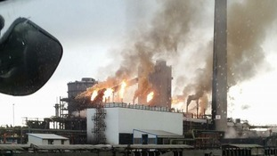 Fire at Tata Steel in Port Talbot caused by 'lightning strike'