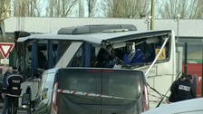 Six children die after minibus crashes into truck in France