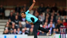 Wahab Riaz in action for Surrey in last year's T20 Blast.