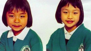 Seven-year-old Lily Wu and Shelley Wu, six, died