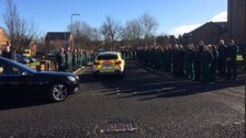 Hundreds attend North East paramedic funeral