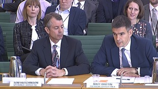 Google's finance boss Tom Hutchinson and UK boss Matt Brittin.