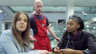 Scenario: Waiter talks to Michelle's friend and not her