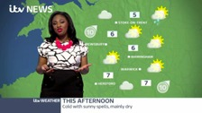 It will be a fine day with plenty of sunny spells, though feeling cold.