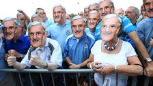 Thousands of Sky Blues supporters turned up at the Ricoh Arena to see the statue of Jimmy Hill unveiled