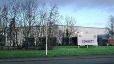 Former KP crisps factory in Consett