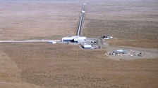 An aerial view of the LIGO Hanford Observatory