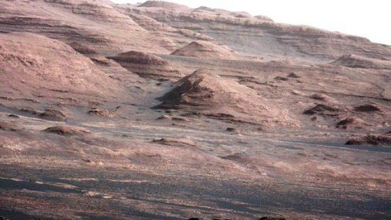 The base of Mount Sharp on Mars