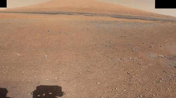 Landing site and highest point of Mount Sharp