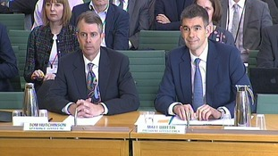 Google executives Tom Hutchinson and Matt Brittin
