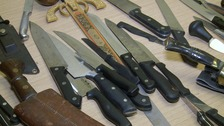 Knifes from an amnesty project in Cambridgeshire.