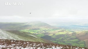 Stone and heather airlifted to Brecon Beacons to repair damaged landscape