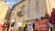 Protesters object to council cutbacks in Kent
