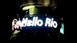 A message saying 'Hello Rio' is displayed at the top of the BT Tower