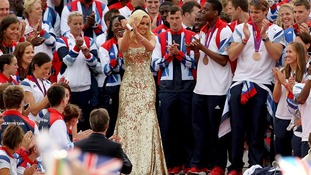 Katherine Jenkins singing the national anthem