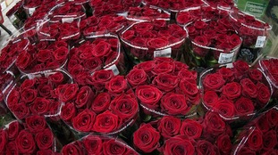 90,000 red roses are delivered to Flower Vision in Bristol