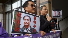 protest in Hong Kong about disappearance of Lee Bo and Gui Minhai