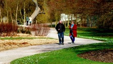 People enjoying a walk around Trentham Gardens in Stoke