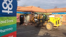 Hunt for digger driving cash machine ram-raiders